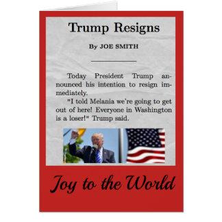 Carte de vacances de Donald Trump
