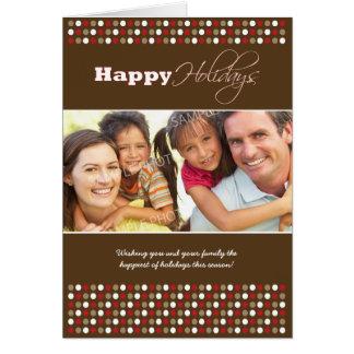 Carte de vacances de famille de à petits pois de