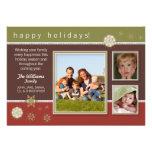 Carte de vacances de famille de flocons de neige (