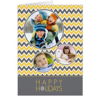 Carte de vacances de famille de motif de Chevron