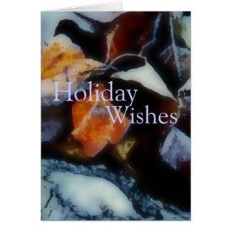 Carte de vacances de Frost de matin