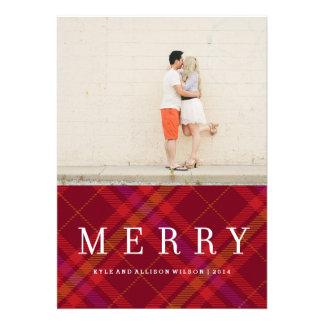 Carte de vacances de guingan de MerryPlaid de