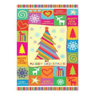 Carte de vacances de Joyeux Noël Carton D'invitation 12,7 Cm X 17,78 Cm