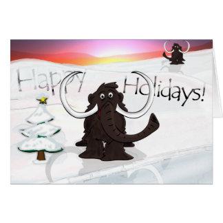 Carte de vacances de mammouth laineux