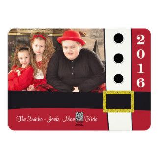 Carte de vacances de Noël de costume du père noël