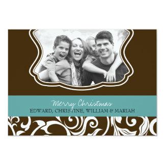Carte de vacances de photo de famille de Joyeux Carton D'invitation 12,7 Cm X 17,78 Cm