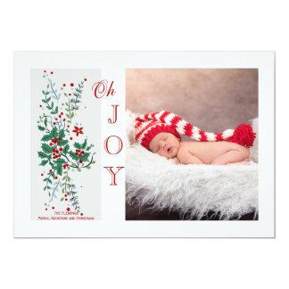 Carte de vacances de photo de joie de Noël