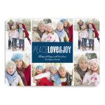 carte de vacances de photo de la paix 5 x 7, de bristol personnalisé