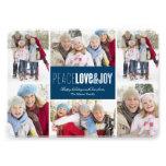 carte de vacances de photo de la paix 5 x 7, de l' bristol personnalisé