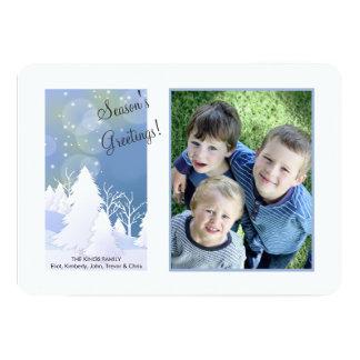 Carte de vacances de photo de scène d'hiver