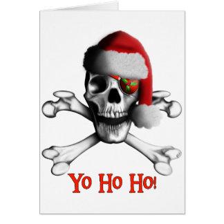 Carte de vacances de pirate de Noël