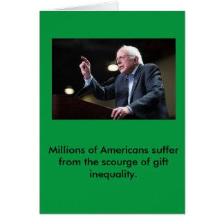 Carte de vacances de ponceuses de Bernie