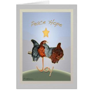 Carte de vacances de poulet de jardin de bébé
