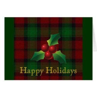 Carte de vacances de tartan de Kerr de clan