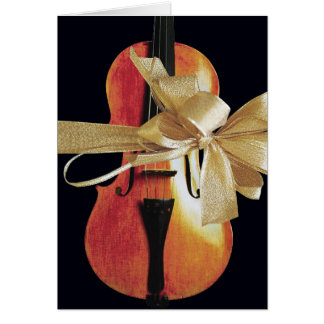 Carte de vacances de violon