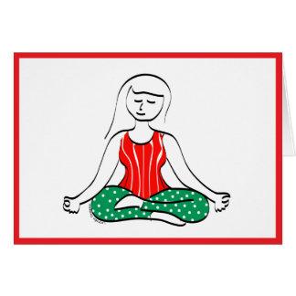 Carte de vacances de yoga