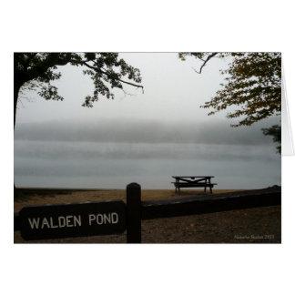Carte de vacances d'étang de Walden - regardez