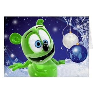 Carte de vacances d'hiver de Noël de Gummibär