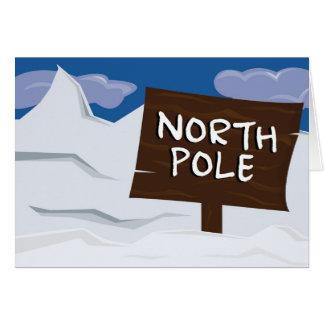Carte de vacances d'illustration de Pôle Nord