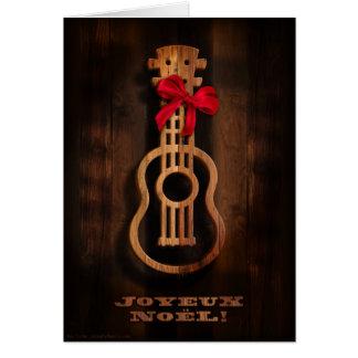 """Carte de vacances d'ukulélé de """"Joyuex Noel"""""""