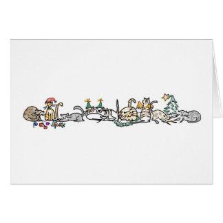 Carte de vacances - troupeau de chats