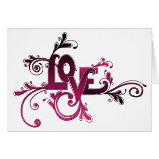 Carte de Valentine d'amour