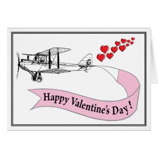 Carte de Valentine de biplan