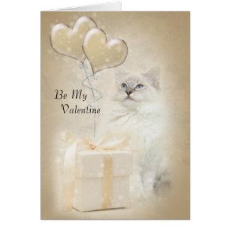 Carte de valentine de chat de Ragdoll