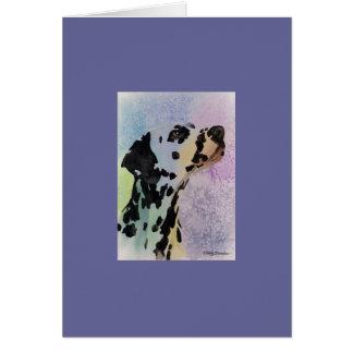 Carte de Valentine de chien