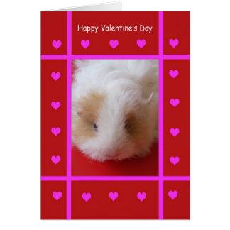 Carte de Valentine de cobaye d'enfant