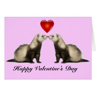 Carte de Valentine de furet