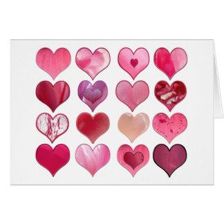 Carte de Valentine de seize coeurs
