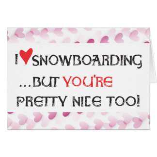 Carte de Valentine de surfeur - snowboarding de