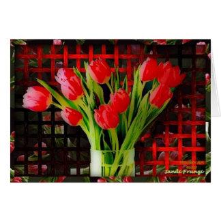 Carte de Valentine de tulipes (gros caractères)