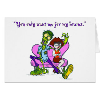 Carte de Valentine de zombi