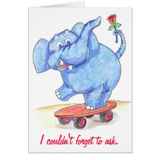 Carte de Valentines d'éléphant serez-vous mon