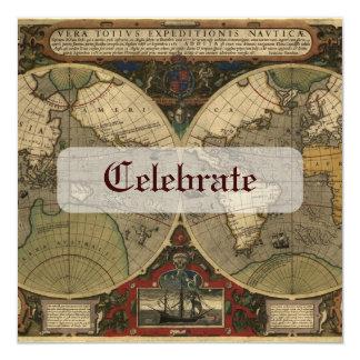 Carte de Vera Totius Expeditionis Carton D'invitation 13,33 Cm