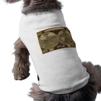 Carte de Vera Totius Expeditionis T-shirts Pour Animaux Domestiques