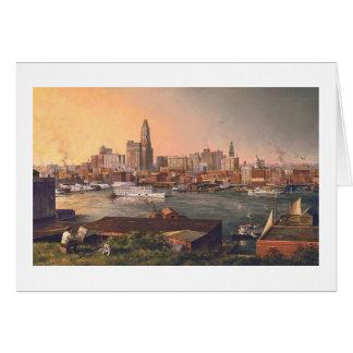 "Carte de ""vieux Baltimore port"" de Paul McGehee"