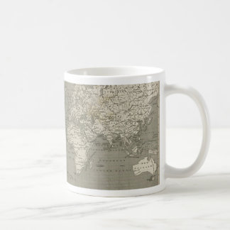 Carte de Vieux Monde 1820 Mugs À Café