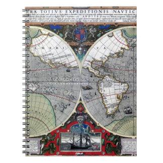 Carte de Vieux Monde antique 1595 reconstituée Carnet