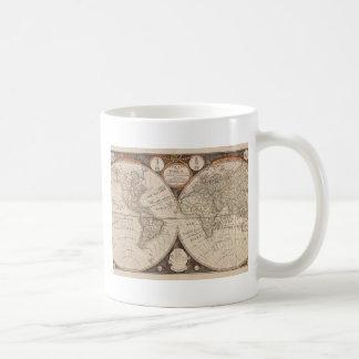 Carte de Vieux Monde antique 1799 Mug Blanc