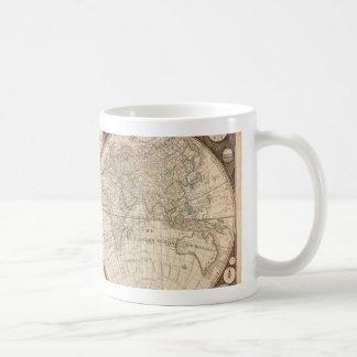Carte de Vieux Monde antique 1799 Tasse À Café