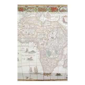 Carte de Vieux Monde antique de l'Afrique, C. 1635