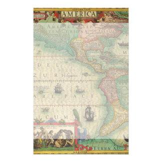 Carte de Vieux Monde antique des Amériques, 1606