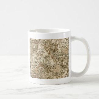 Carte de Vieux Monde antique Mug Blanc