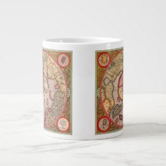 Carte de Vieux Monde antique, Pôle Nord arctique, Mug Jumbo