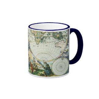 Carte de Vieux Monde antique vintage par des Mug Ringer