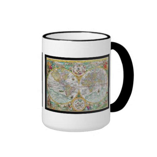 Carte de Vieux Monde avec l'illustration colorée Tasse