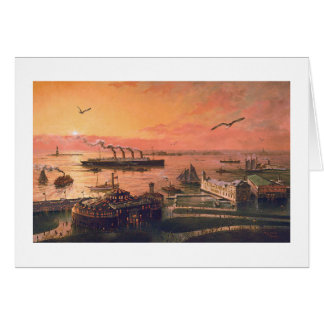 "Carte de ""vieux New York port"" de Paul McGehee"